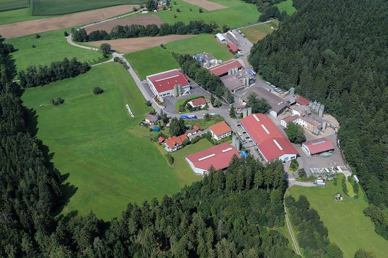 Aerial view of JELU-WERK - producer of WPC granulates