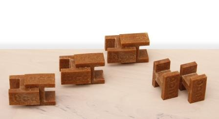 H-shaped LUCO BRICKS building blocks made from JELUPLAST®